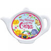 My Blessings Call Me Oma Teapot Magnet with Flower Design