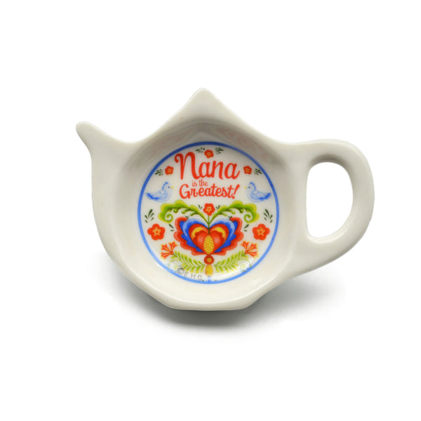 Nana is the Greatest Teapot Magnet with Birds Design