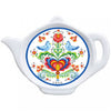 Rosemaling and Lovebirds Teapot Fridge Magnet