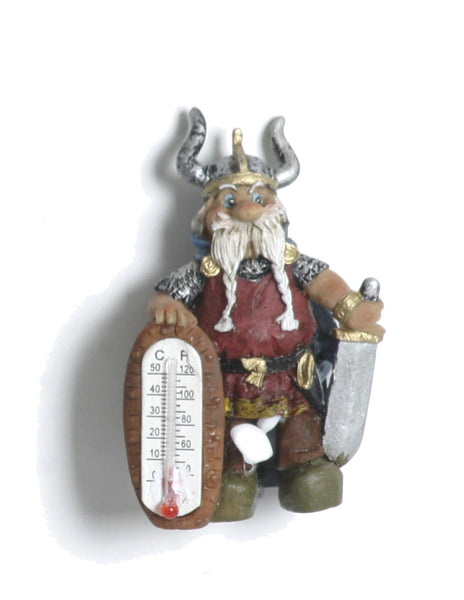 Scandinavian Viking Miniatures With Thermometer