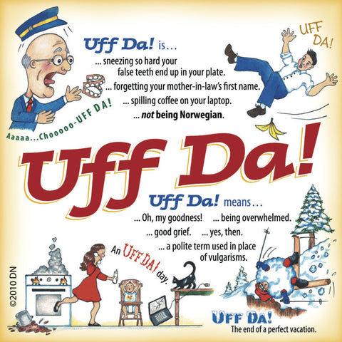 Uff Da Shop Tile Magnet