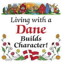 Danish Refrigerator Tile Magnet (Living With Dane)