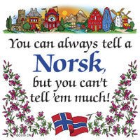 Norwegian Unique Tile Magnet (Tell A Norsk)
