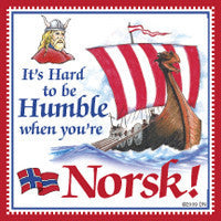 Norwegian Unique Tile Magnet (Humble Norsk)