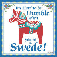 Collectible Swedish Tile Magnet (Humble Swede)