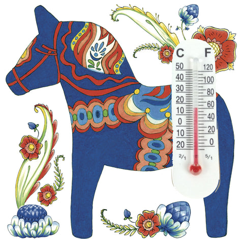 Thermometer Magnetic Tile: Blue Dala