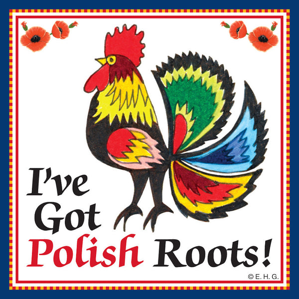 Ceramic Tile Magnet: Polish Heritage Roots