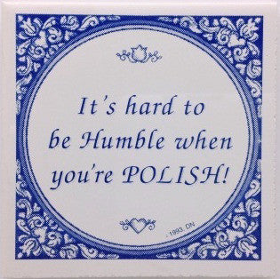 Polish Heritage Tile Magnet (Humble Pole)