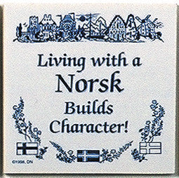 Norwegian Culture Tile Magnet (Living With Norsk)