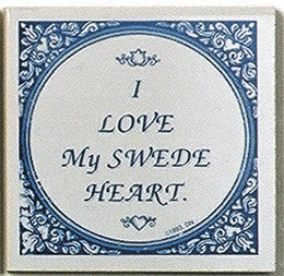 Swedish Culture Tile Magnetic (Love My Swede-Heart)