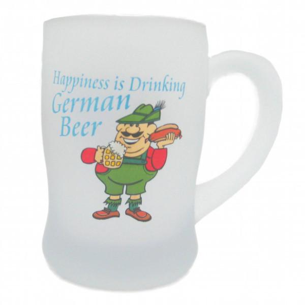 Frosted Oktoberfest Glass Beer Mug