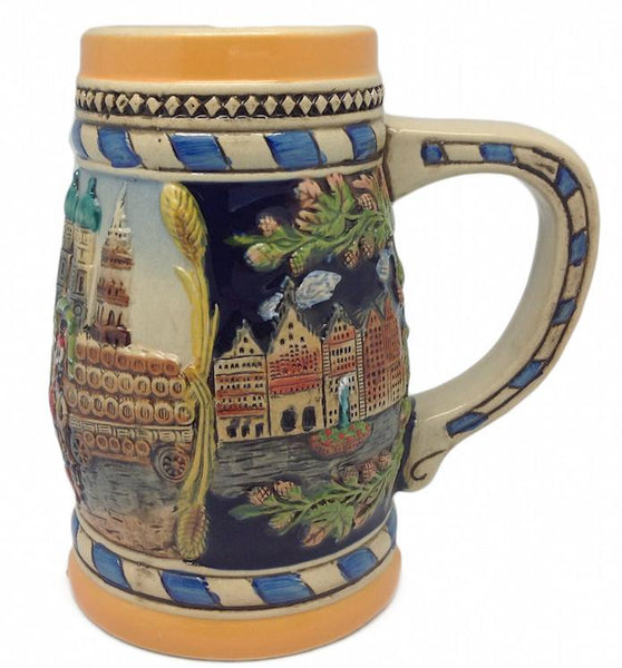 Classic Munich Scene Collectible Bier Stein