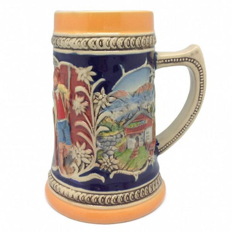 German Alpine Pub Engraved Bier Stein
