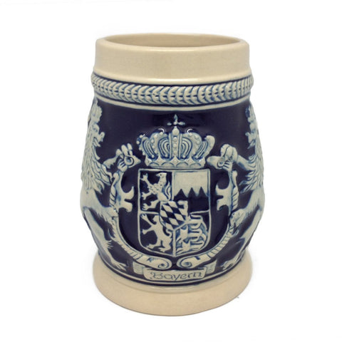 Germany Bayern Coat of Arms Cobalt Blue Beer Stein