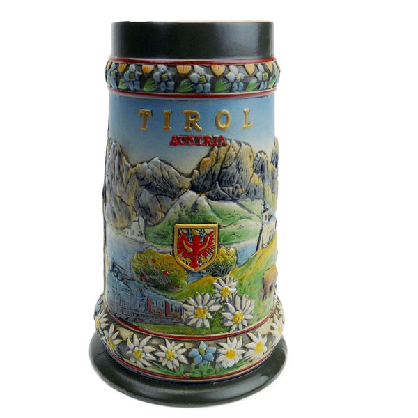 Tirol Scenic Austrian Alps Collectible Beer Stein