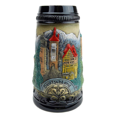 Bavarian Mountain Village Bier Stein