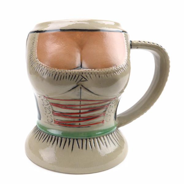 German Lady in Dirndl Ceramic Beer Stein