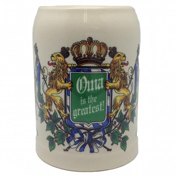 Stoneware Beer Stein German Gift For Oma