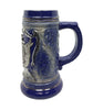 Beer Stein .75L Raised Relief & Metal German Eagle Medallion