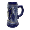 Engraved Ceramic Beer Stein .75L Bayern Metal Medallion