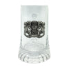 Cool Beer Glass .5L Bayern Coat of Arms Metal Medallion