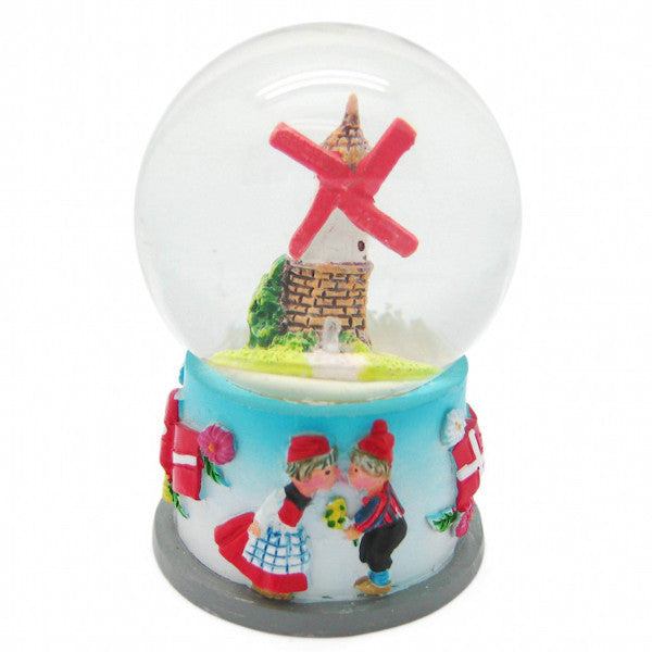 Snow Globe Scandinavian Village Windmill