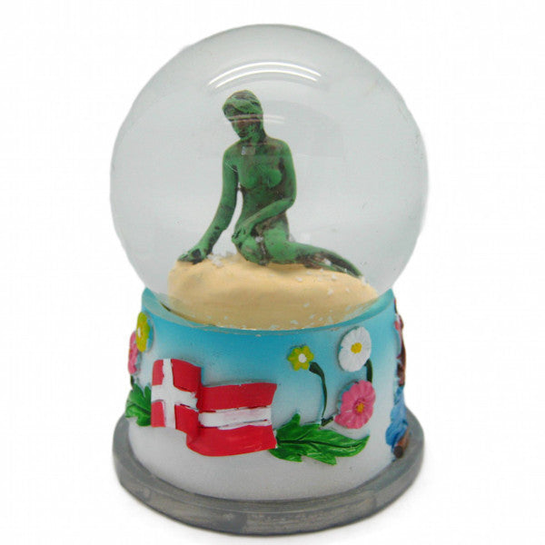 Copenhagen Mermaid Unique Snow Globe
