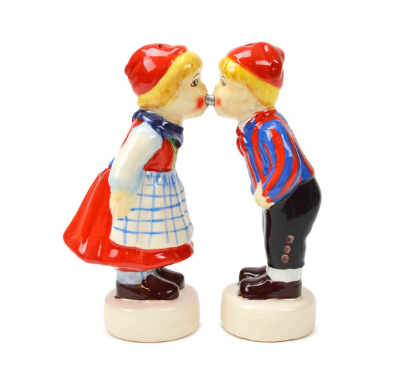 Magnetic Danish Kiss Salt and Pepper Shakers