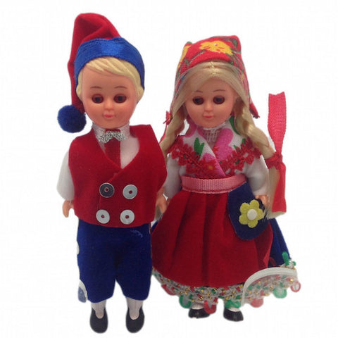 Norwegian Dolls Scandinavian Costume Boy and Girl