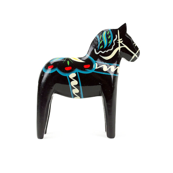 Black Wood Dala Horse