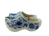 Decorative Shoe Clogs w/ Windmill Blue and White Design-6.5