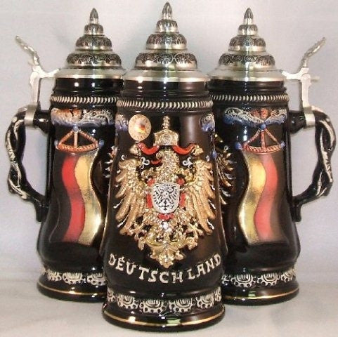 Deutschland Gold Eagle German Beer Stein 0.5 Liter