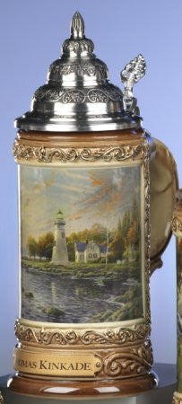 Thomas Kinkade Serenity Cove German Beer Stein King-Werks