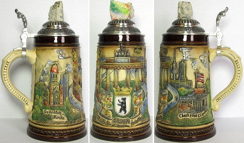1/2 Liter Berlin Wall Beer Stein