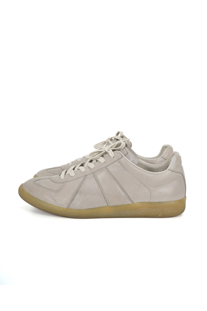 2010 S/S REPLICA GAT SNEAKERS IN GRAY LAMB NAPPA LEATHER