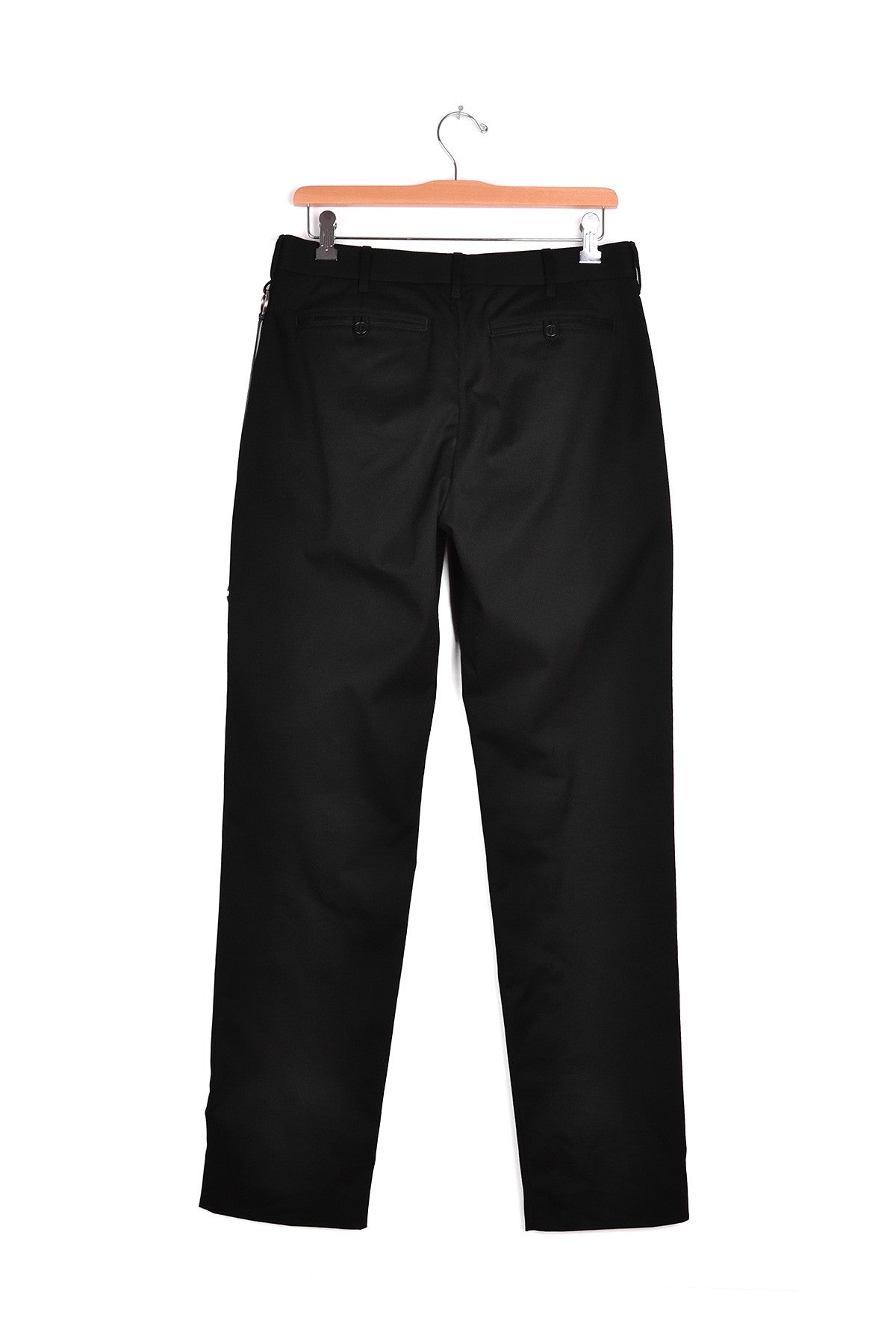 2003 A/W BLACK TROUSERS WITH KEYCHAIN DETAIL