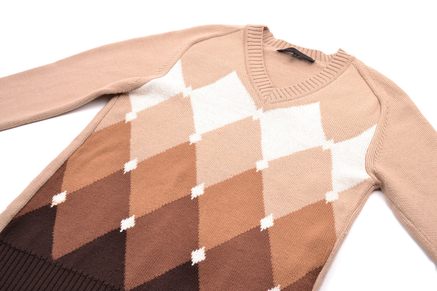 2005 A/W DÉGRADÉ ARGYLE V-NECK SWEATER