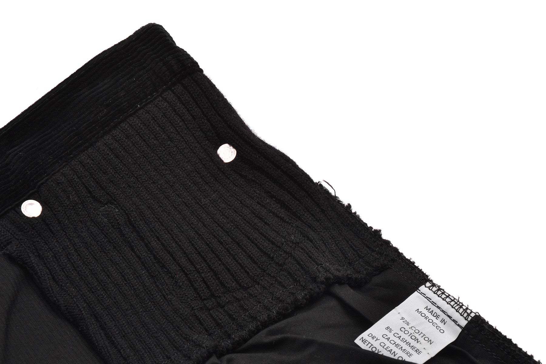 2007 A/W CORDUROY PANTS WITH CASHMERE KNIT INSERTS
