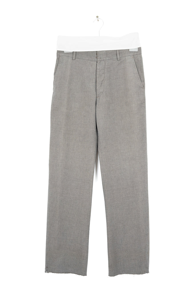 2002 A/W WARM GREY ANATOMICAL BRUSHED COTTON TROUSERS