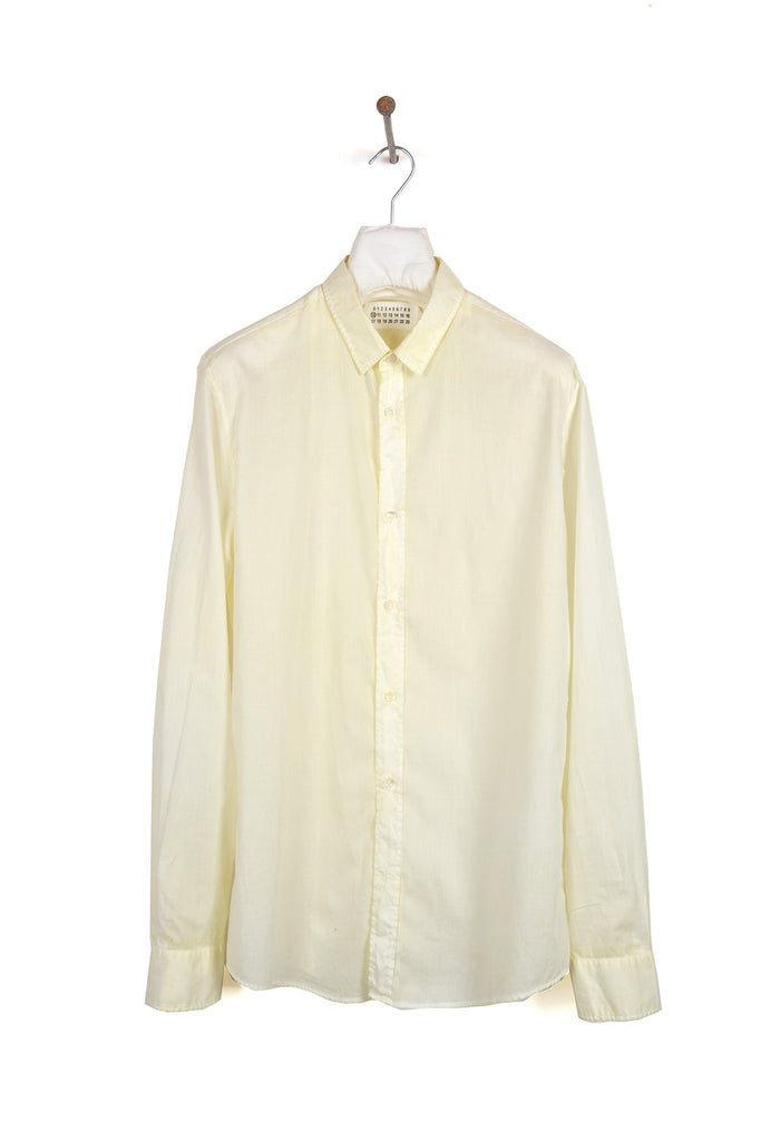2009 S/S IVORY SLIM SHIRT IN COATED DYED COTTON