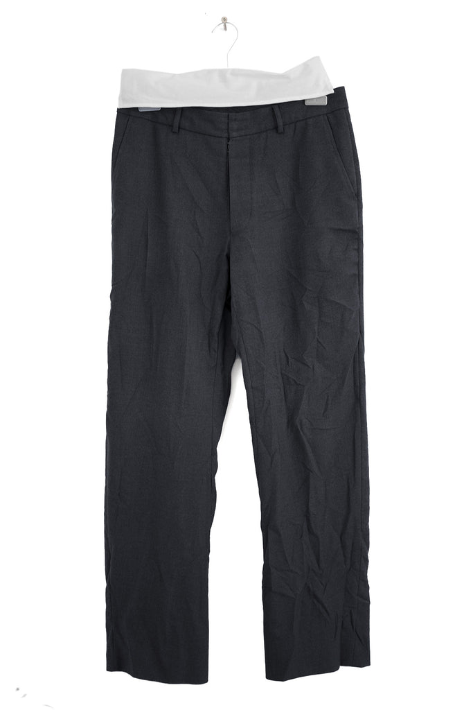 "2000 A/W ""PERMANENTLY CREASED"" ANATOMICAL PANTS"