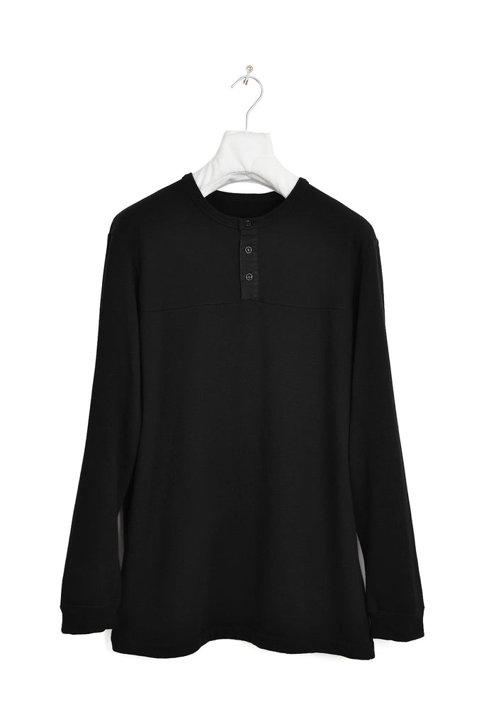 2000 A/W BUTTONED SWEATSHIRT WITH ELBOW DETAILS