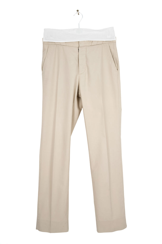 2008 S/S ANATOMICAL TROUSERS WITH SLANTED BELT LOOP DETAIL
