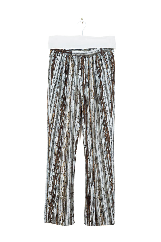 "2014 S/S N°49 ""Alternarrative"" BIRCH PRINT PLEATED TROUSERS"
