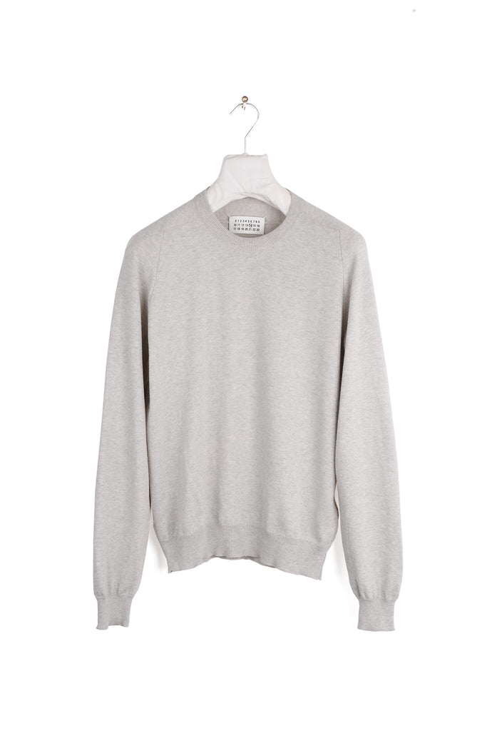 2006 S/S COTTON REPLICA SWEATER WITH SUEDE ELBOW PATCHES