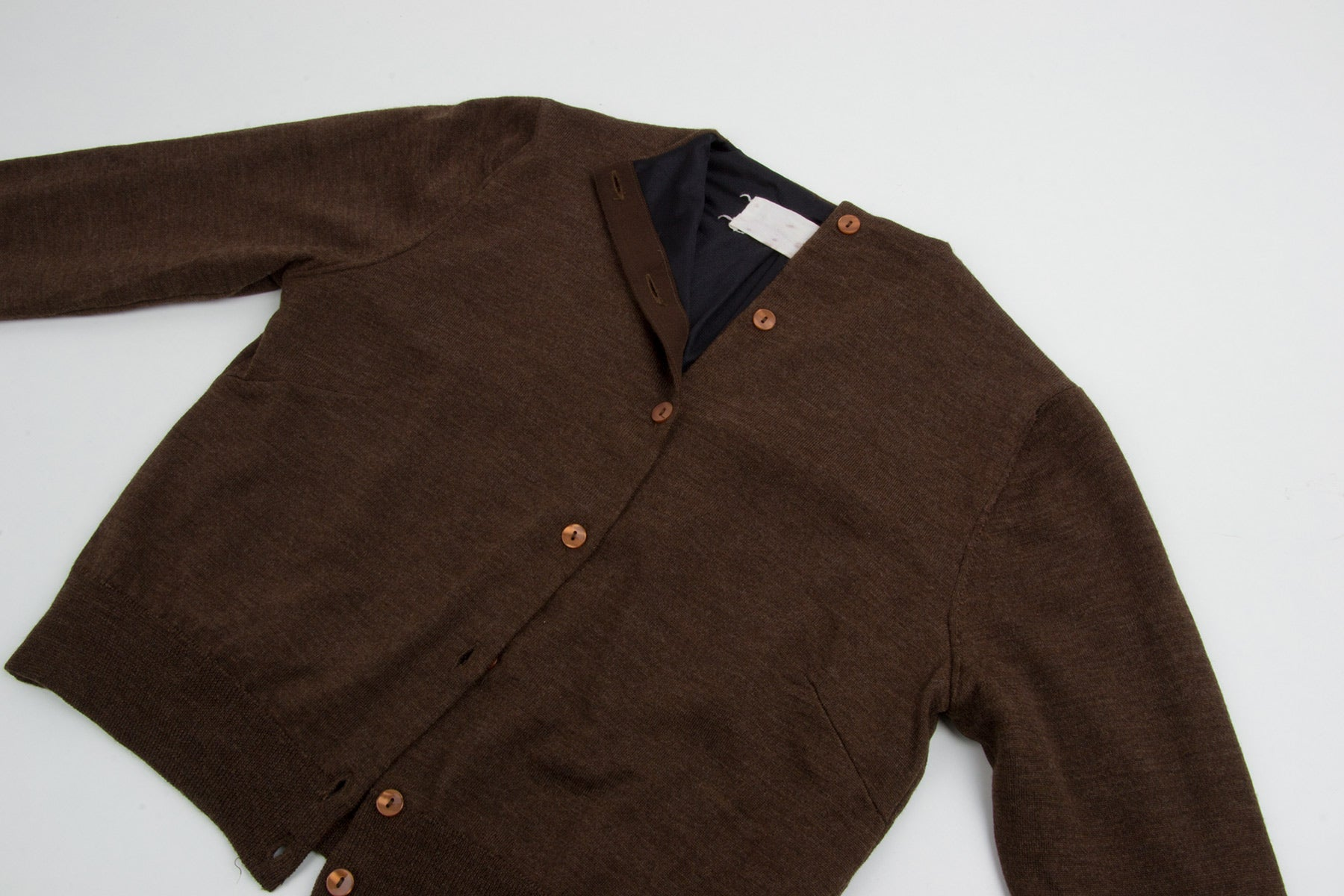 1995 A/W LINED WOOL CARDIGAN BY MISS DEANNA