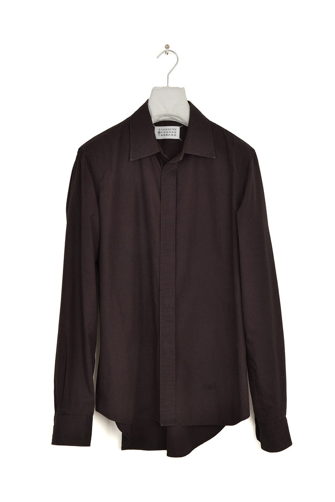 2004 A/W HIDDEN PLACKET LONG-SLEEVE SHIRT IN WASHED COTTON