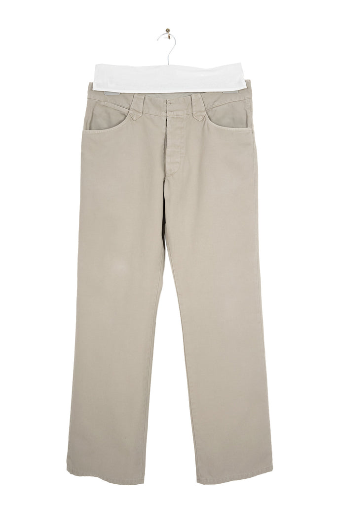 2002 A/W 5-POCKET TROUSERS IN WASHED CANVAS COTTON