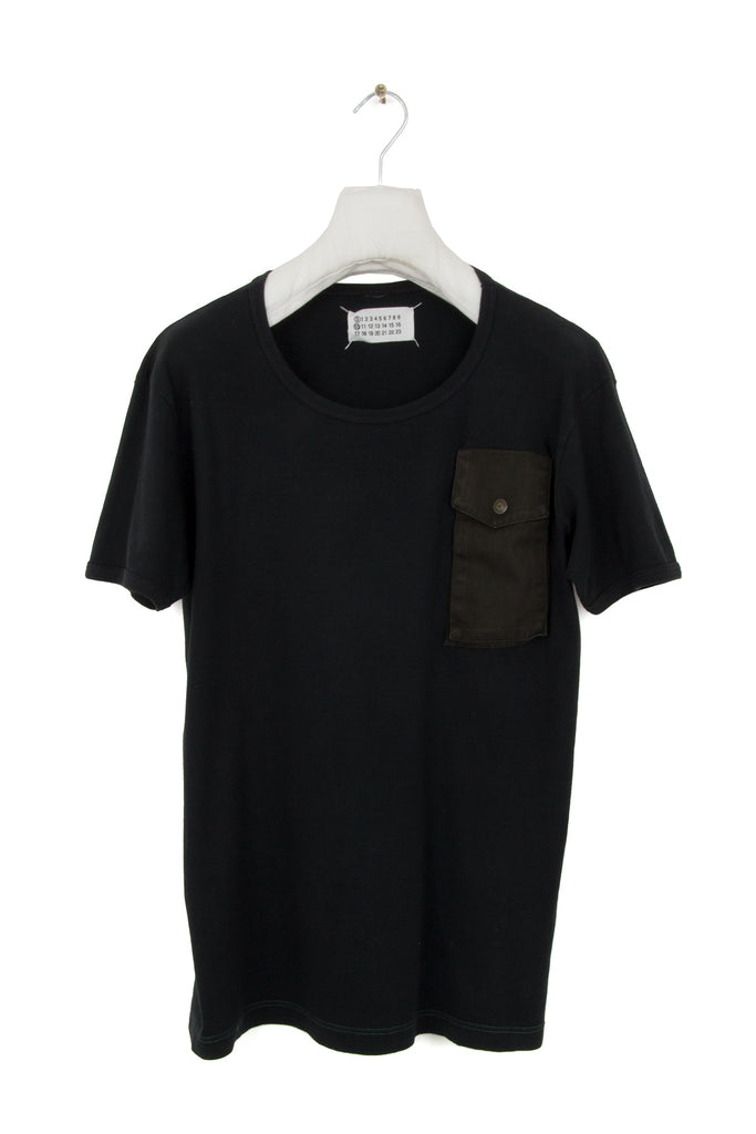 2001 S/S ARTISANAL T-SHIRT WITH FRONT PATCH POCKET