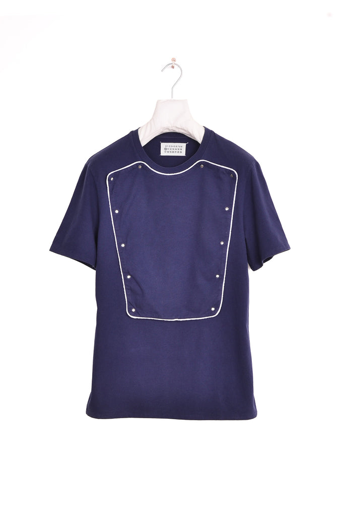 2008 S/S DARK BLUE T-SHIRT WITH ATTACHED BIB